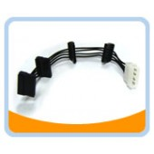 SATA4-POWER   4 Pins Molex Connector to 4 Serial ATA Power Cable