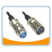 XLR-MF   3 pin XLR Male to 3 pin XLR Female Cable